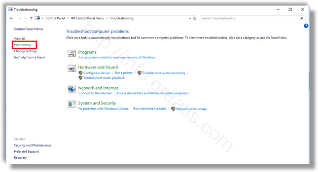 windows-10-troubleshooting-view-history