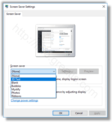 windows-10-choose-screensaver