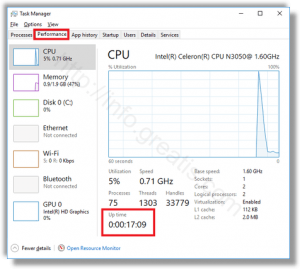 windows-10-find-uptime