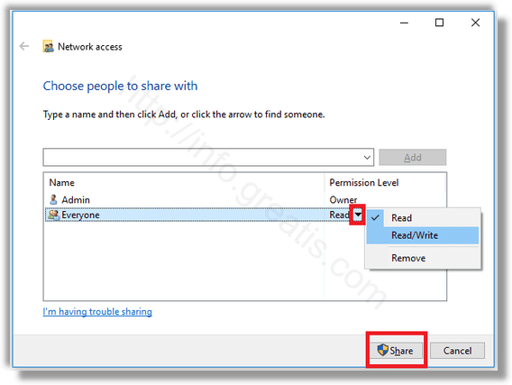 windows-10 share file