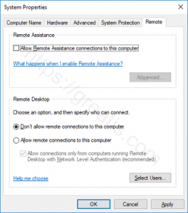 windows-10-disable-remote-assistance