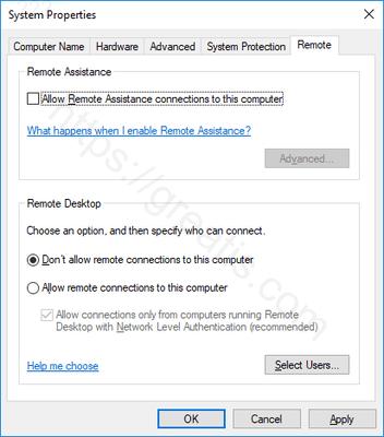 windows-10-disable-remote-assistance