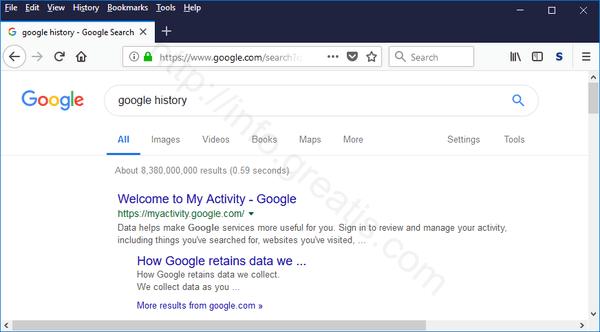 windows-10-google-history