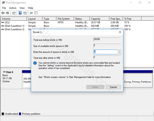 windows 10 resize partitions