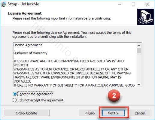proceed install UnHackMe
