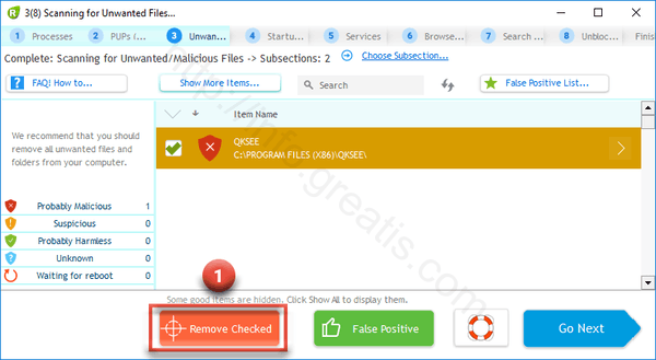 remove using UnHackMe