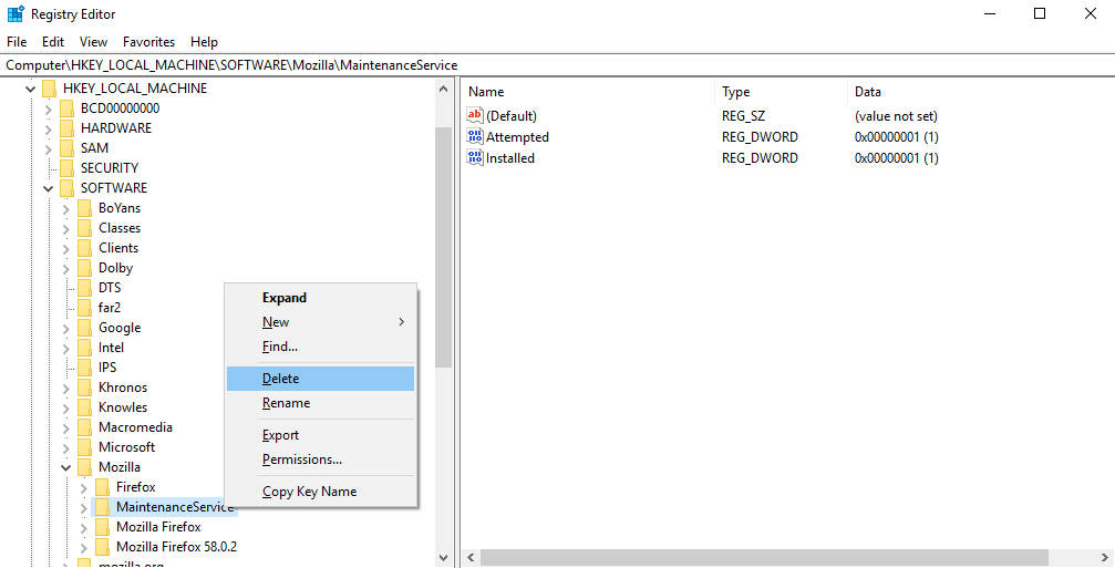 run registry editor to find