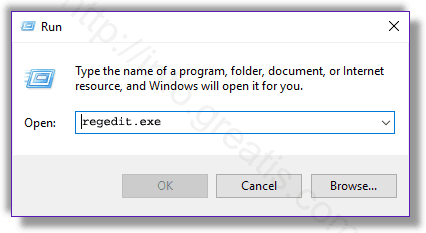 win10 run Registry Editor console