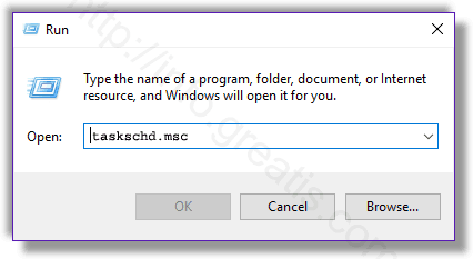 Remove MACOPA SETUP from scheduled task list.