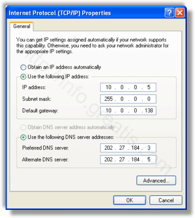 Here is how to configure windows dns settings