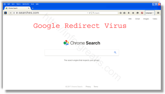 How to get rid of e-searches.com adware redirect virus from chrome, firefox, internet explorer, edge