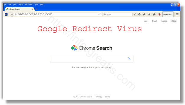 How to get rid of safeservesearch.com adware redirect virus from chrome, firefox, internet explorer, edge