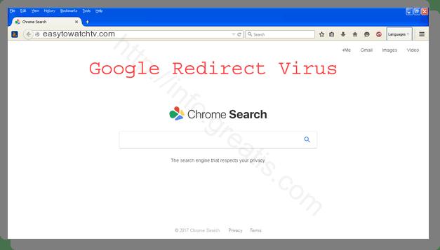 How to get rid of easytowatchtv.com adware redirect virus from chrome, firefox, internet explorer, edge