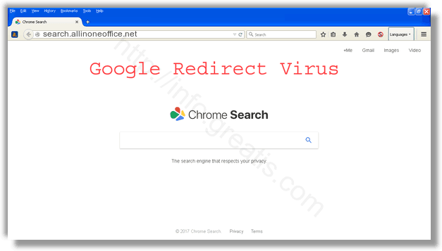 How to get rid of search.allinoneoffice.net adware redirect virus from chrome, firefox, internet explorer, edge