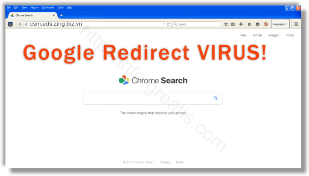 How to get rid of csm.ads.zing.biz.vn adware redirect virus from chrome, firefox, internet explorer, edge