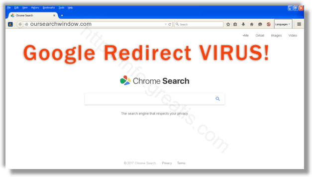 How to get rid of oursearchwindow.com adware redirect virus from chrome, firefox, internet explorer, edge