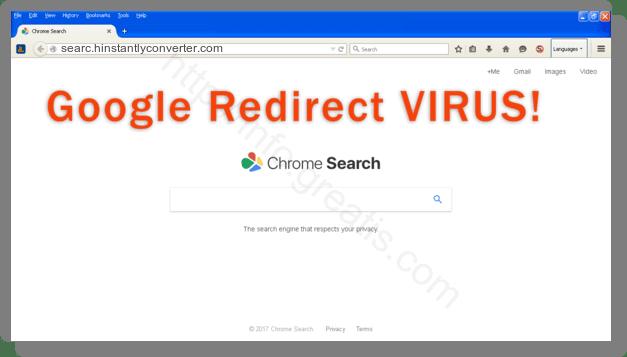 How to get rid of searc.hinstantlyconverter.com adware redirect virus from chrome, firefox, internet explorer, edge