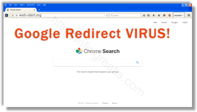 How to get rid of web-start.org adware redirect virus from chrome, firefox, internet explorer, edge