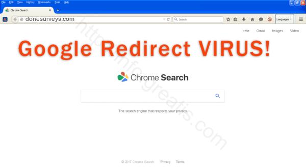 How to get rid of donesurveys.com adware redirect virus from chrome, firefox, internet explorer, edge