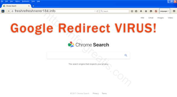How to get rid of freshrefreshnerer184.info adware redirect virus from chrome, firefox, internet explorer, edge