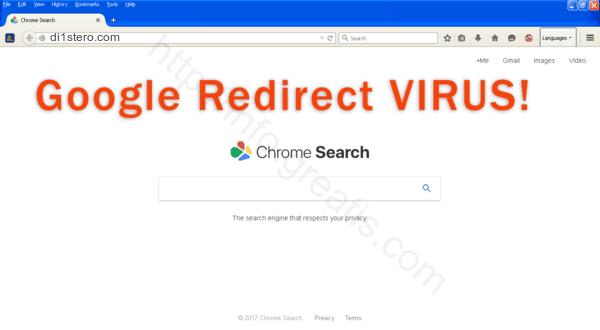 Web site DI1STERO.COM displays popup notifications