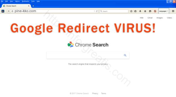 Web site PINE-KKO.COM displays popup notifications