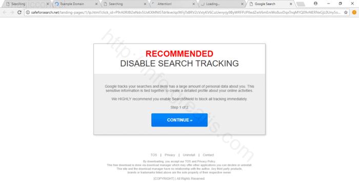 Web site MAGICCONTROL displays popup notifications
