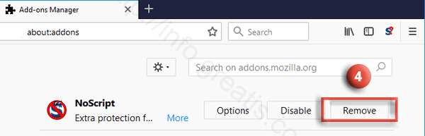 firefox-remove-add-on