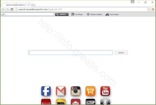 Browser is redirected to the TERT1ARY.COM site