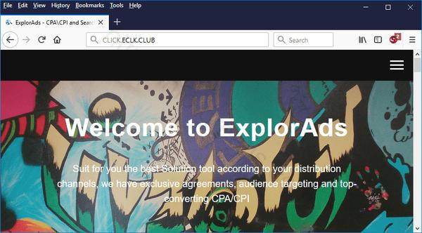 Web site CLICK.ECLK.CLUB displays popup notifications