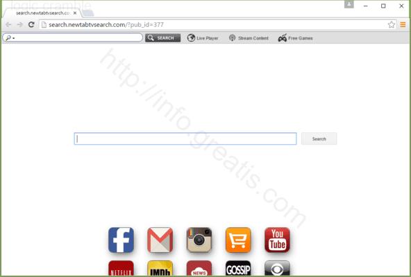 Web site LOGIC CRAMBLE displays popup notifications