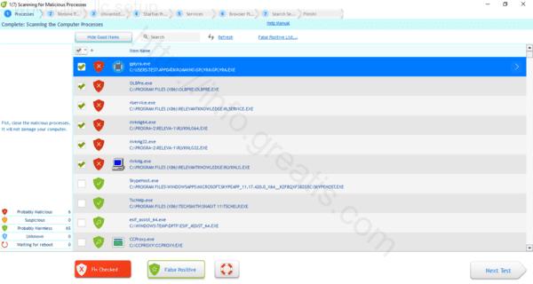 Web site WHITECLICK LLC SETUP displays popup notifications