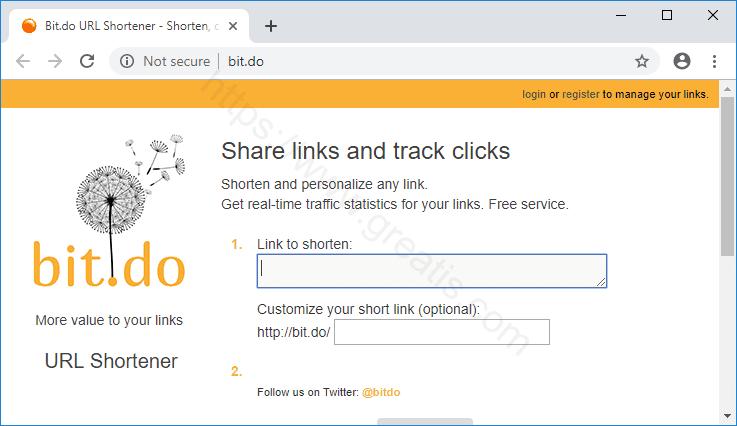 Web site BIT.DO displays popup notifications