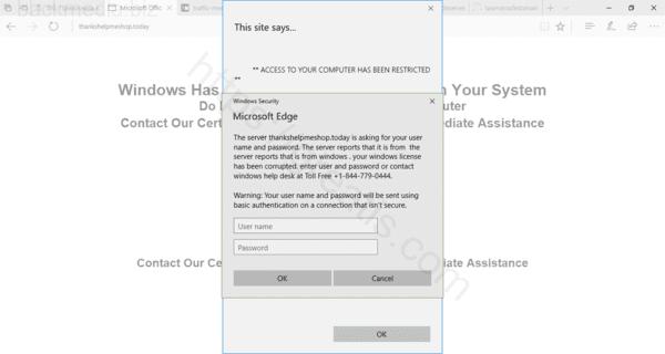 Web site BACKMEDIA.BIZ displays popup notifications