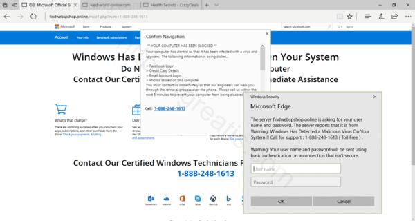 Web site INFRAROTSCREENING.COM displays popup notifications