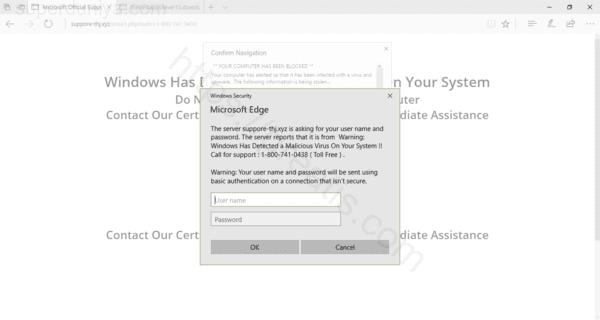 Web site SUPERDUNIYA.COM displays popup notifications