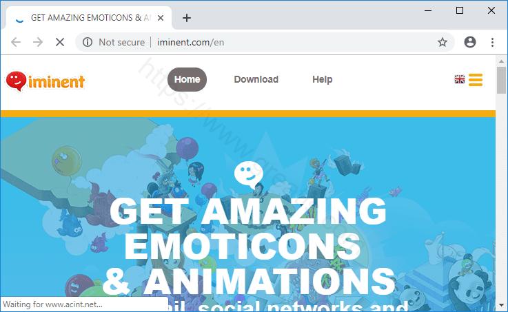Web site IMINENT.COM displays popup notifications