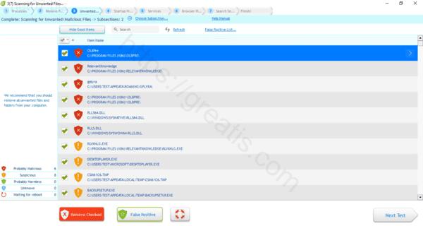 Web site NET07.BIZ displays popup notifications
