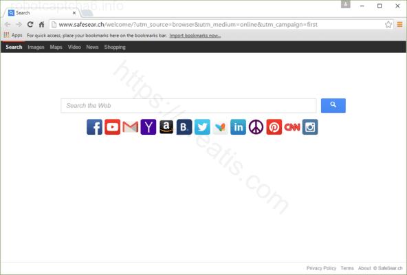 Web site ROBOTCAPTCHA6.INFO displays popup notifications