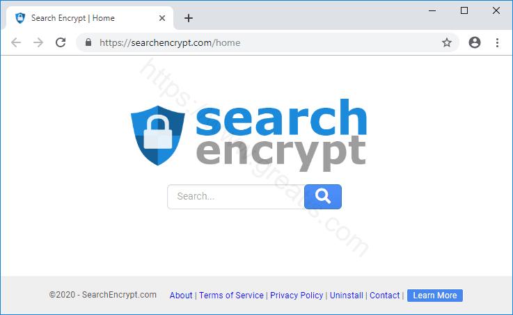 Web site SEARCHENCRYPT.COM displays popup notifications