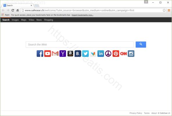 Web site VIULANATURA.COM displays popup notifications